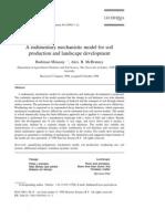 1999_Budiman_A Rudimentary Mechanistic Model for Soil Production and Landscape Development