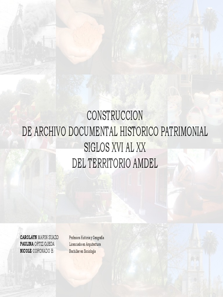Construcci N De Archivo Documental Hist Rico Patrimonial Siglos  # Hazan Muebles Gavilan