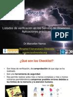 V.Curso de Gestion. Listados de Verificación en los servicio de urgencias. C.Marcellan