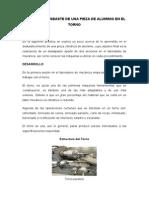 PRÁCTICA 1 DESBASTE DE UNA PIEZA DE ALUMINIO EN EL TORNO