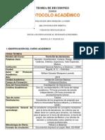 Teoria de Decisiones Protocolo y Modulo
