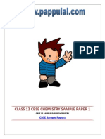 Cbse 12 Sample Paper Chemistry