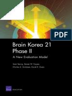 Somi Seong Brain Korea 21 Phase II a New Evaluation Mode 2008