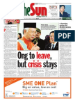 thesun 2009-10-13 page01 ong to leave but crisis stays