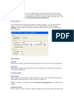 Generating Purchase Audit Trail