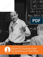 The Richard P. Feynman Prize for Excellence in Teaching at Caltech
