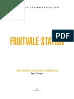 Fruitvale Station - Screenplay by Ryan Coogler