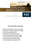 Community Groups Opening Presentation East West Link Panel Hearings