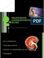Trastornos gastrointestinales en IRC