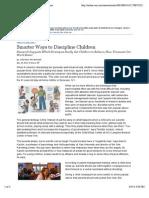 Smarter Ways to Discipline Children - WSJ.com