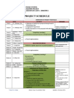 1. Project Schedule