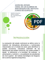 EVALUACIÓN DEL ESTADO NUTRICIONAL DE LOS ALUMNOS DE