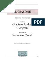 Cavalli Giasone (Libretto)