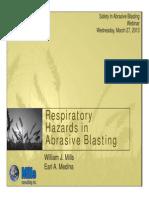 Respiratory Hazards in Abrasive Blasting