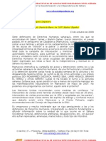 Carta condena por detención y encarcelamiento de activistas de DDHH saharauis