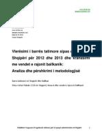 Barra Tatimore (tax burden) ne Shqiperi dhe ne Ballkan, 2014