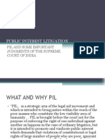 AN OVERVIEW OF PUBLIC INTEREST LITIGATION IN INDIA