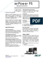 ACER AcerPower F5 Brochure(ACD1112)
