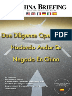 Due Diligence Operacional Haciendo Andar Su Negocio En China