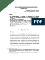 La Seguridad Juridica en El TP Del CC Juan Linares