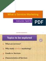 Services Marketing - Week 1