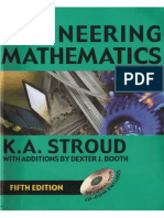 Engineering Mathematics 5th Ed by K. a. Stroud