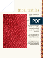 Text tribal embroidery of India