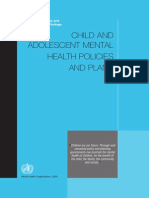 Child and Adolescent Mental Health Policies_WHO_2005Child and Adolescent Mental Health Policies