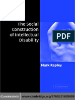 Mark Rapley the Social Construction of Intellectual Disability 2004