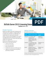 BizTalk Server 2013 Licensing Datasheet and FAQ