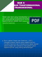 Kepemimpinan Tranformasional Dan Transaksional