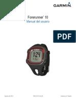 Forerunner 10 Manual Es