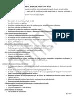 Resumo - Historia da saúde pública no Brasil