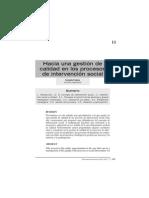 2002 Fantova - Hacia Una Gestion de Calidad de Intervencion Social