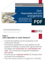 Quiz Associates and Joint Arrangements Updated