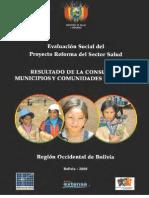 Resultados de la consulta a municipios y comunidades indígenas Región Occidental de Bolivia