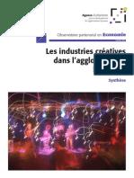 Les industries créatives dans l'agglomération lyonnaise - Synthèse - novembre 2011, 12 pages