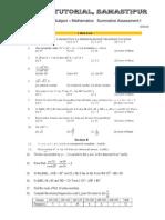 10th Sa-1 Mathematics Sample Paper 2012-10