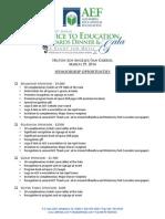 AEF Sponsorship Levels 2014