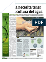 Lima Necesita Tener Una Cultura Del Agua