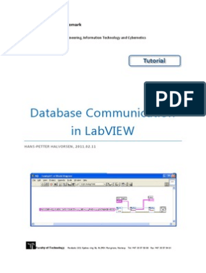 Database Communication in LabVIEW | Microsoft Access | Sql