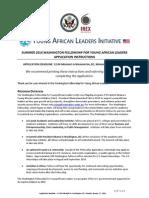 FINAL Washington Fellowship Application Instructions 2013