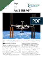 Watt's#31spaceenergy