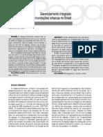 Gerenciamento integrado das inundações urbanas no Brasil