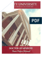 2014 Doctor of Ministry Thesis Manual