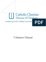 Catholic Charities Diocese Of Charlotte Volunteer Manual