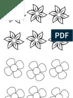 Bunga Kosong Hitam Putih