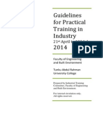 Guidelines for Practical Training in Industry 2014 (BD, PM & QS)