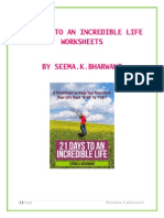 21 Days to an Incredible Life Worksheets