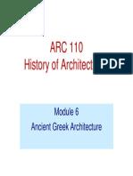 Greek Architecture Lecture module 6
